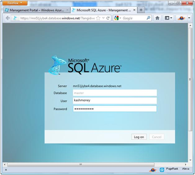 sql-azure-login-screen
